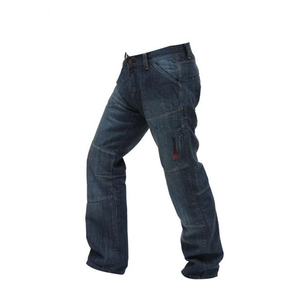 Pánské jeansové moto kalhoty Spark Track modrá - S