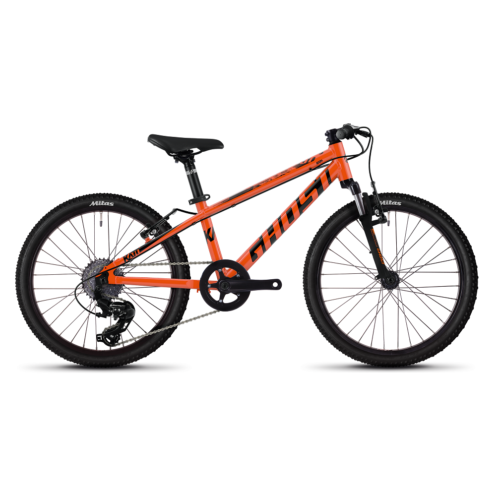 "Dětské kolo Ghost Kato 2.0 AL 20"" - model 2020 Monarch Orange / Jet Black - Záruka 10 let"