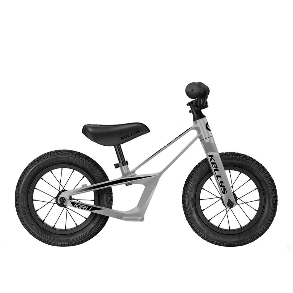 """Odrážedlo KELLYS KIRU 12"""" - model 2021 Raw Silver"""