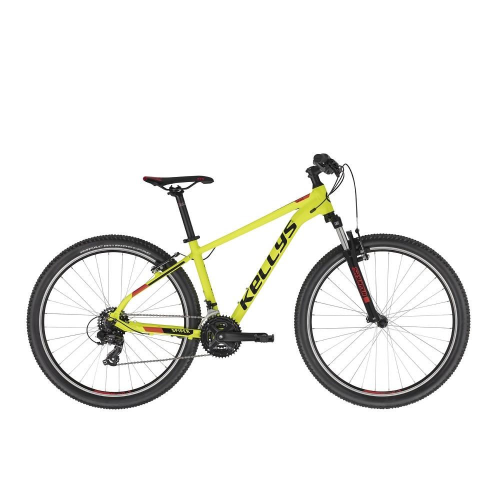 """Horské kolo KELLYS SPIDER 10 26"""" - model 2021 Neon Yellow - XXS (13,5"""") - Záruka 10 let"""