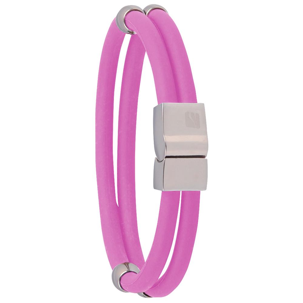 Magnetický náramek inSPORTline Toliman růžová - 18.50 cm