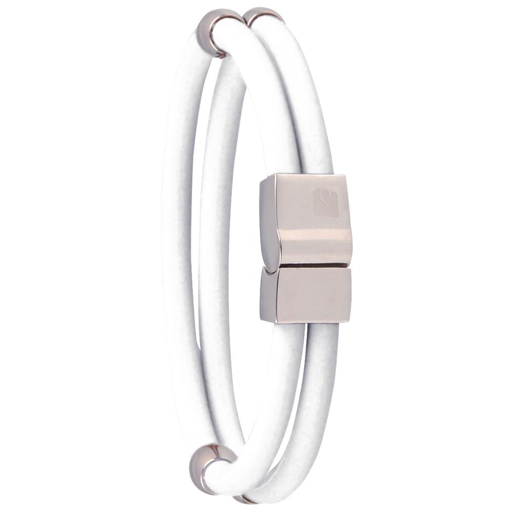 Magnetický náramek inSPORTline Toliman bílá - 18.50 cm