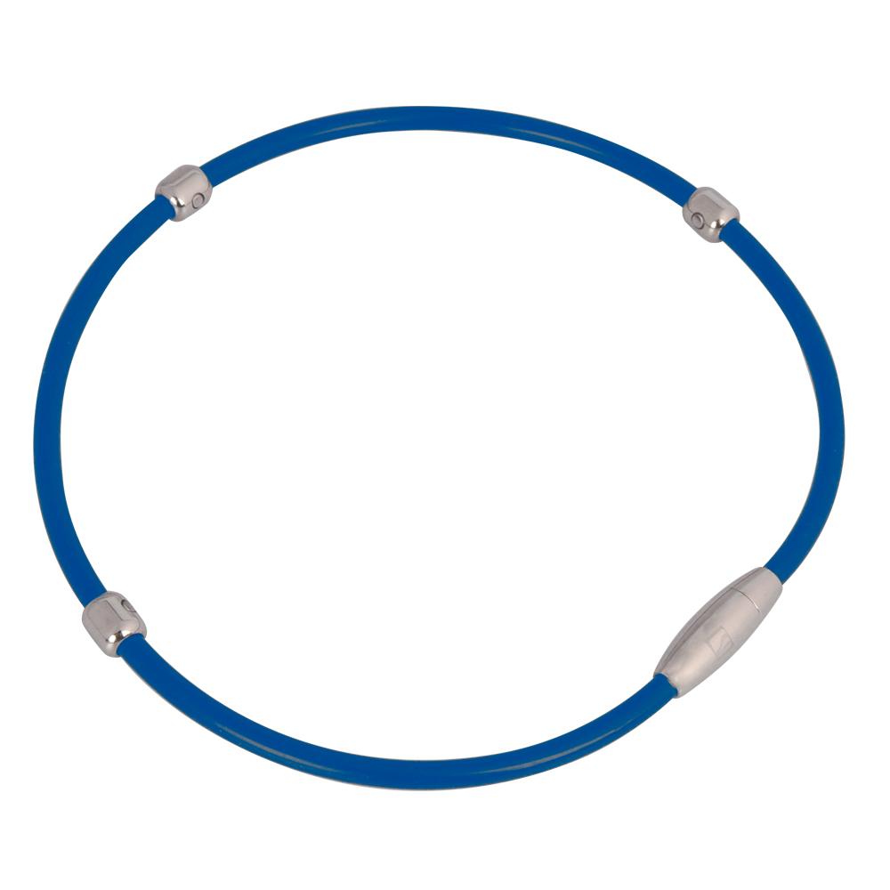 Magnetický náhrdelník inSPORTline Alkione modrá - 48 cm
