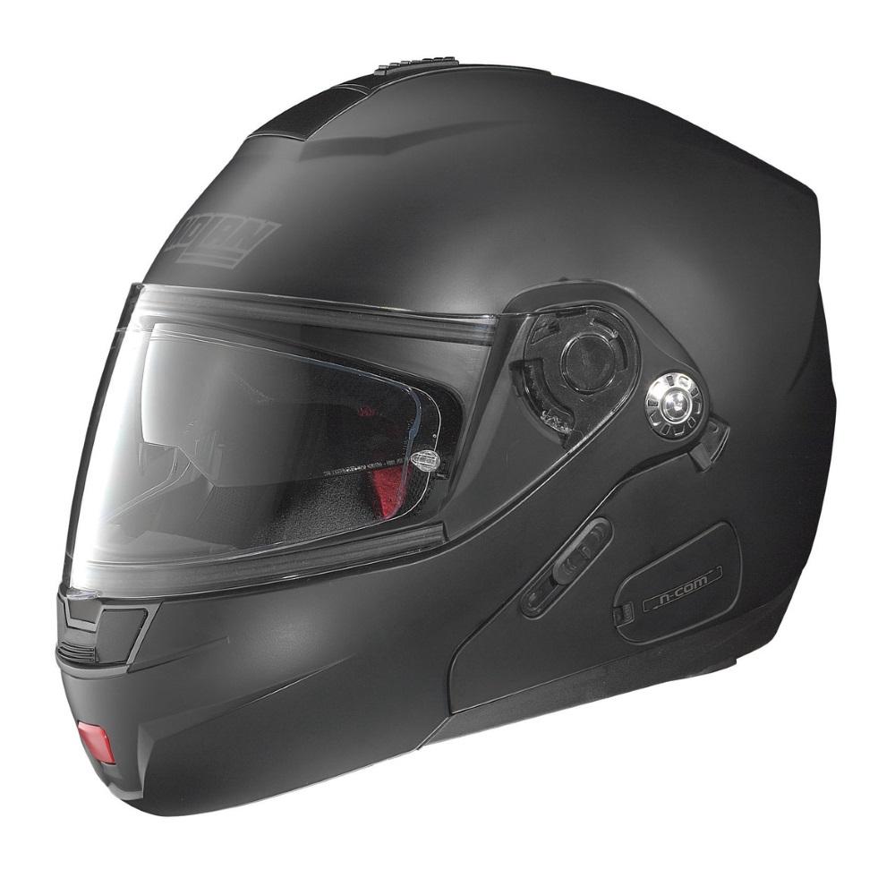 Moto helma Nolan N91 Evo Classic N-Com Flat Black - L (59-60)