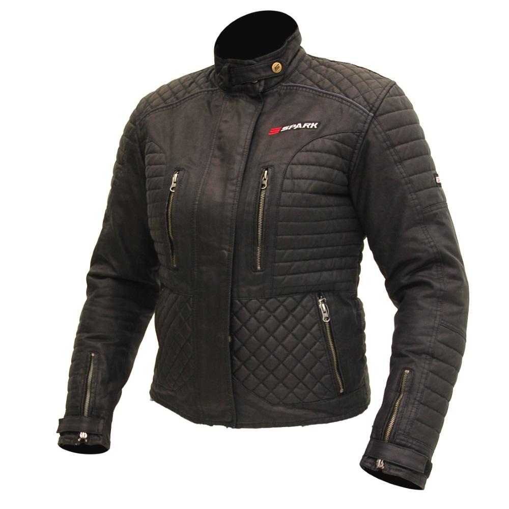 Dámská textilní moto bunda SPARK Cintia černá - S