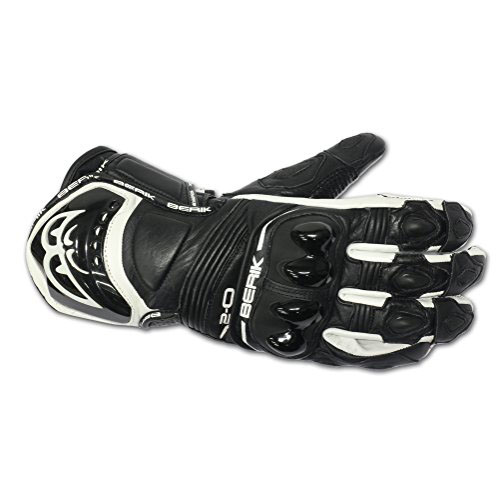 Kožené moto rukavice Berik G-10579-BK Black černá - L