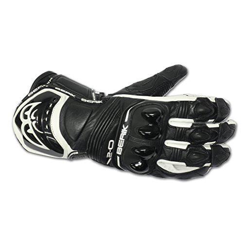Kožené moto rukavice Berik G-10579-BK Black černá - M