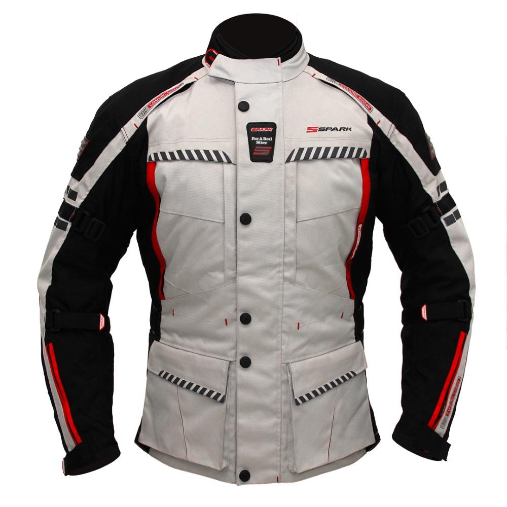 Pánská textilní moto bunda Spark Escape černo-šedá - 5XL