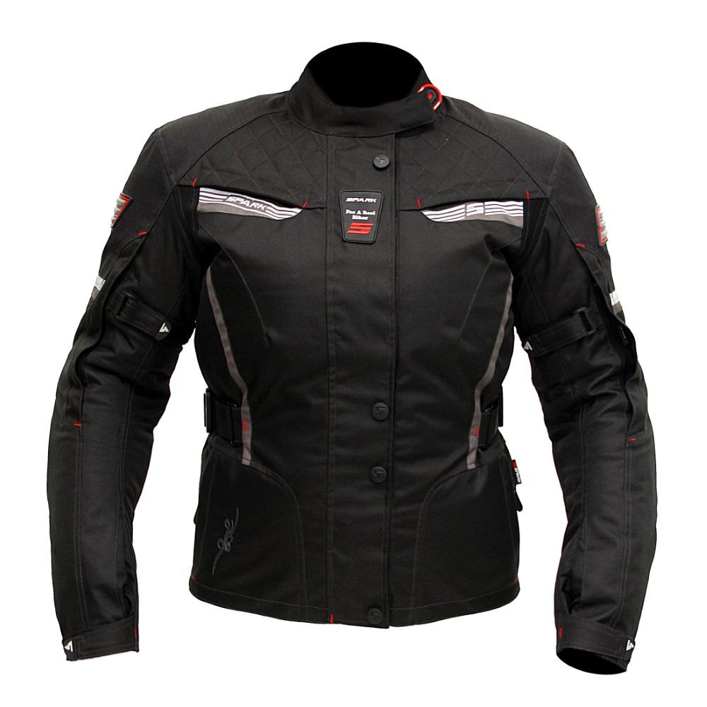 Dámská moto bunda Spark Trinity černá - XS