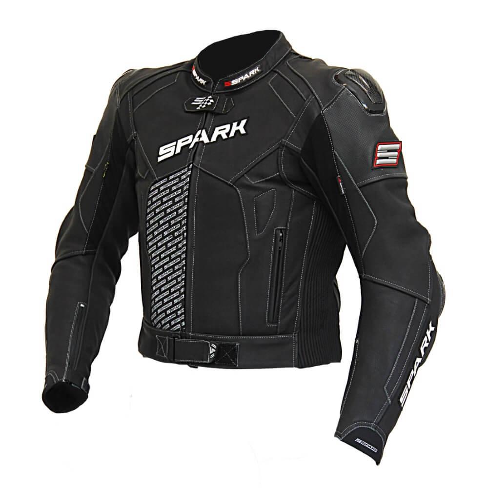 Pánská kožená moto bunda Spark ProComp černá - 3XL