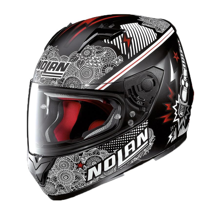 Moto helma Nolan N64 Let's Go Flat Black