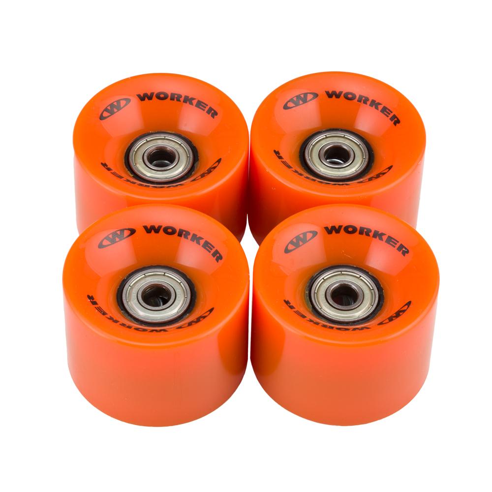 Kolečka WORKER 60*45mm vč. ložisek ABEC 5 - 4ks oranžová