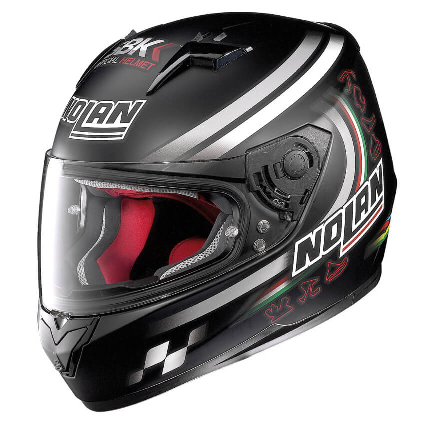Moto helma Nolan N64 SBK 89 Flat Black
