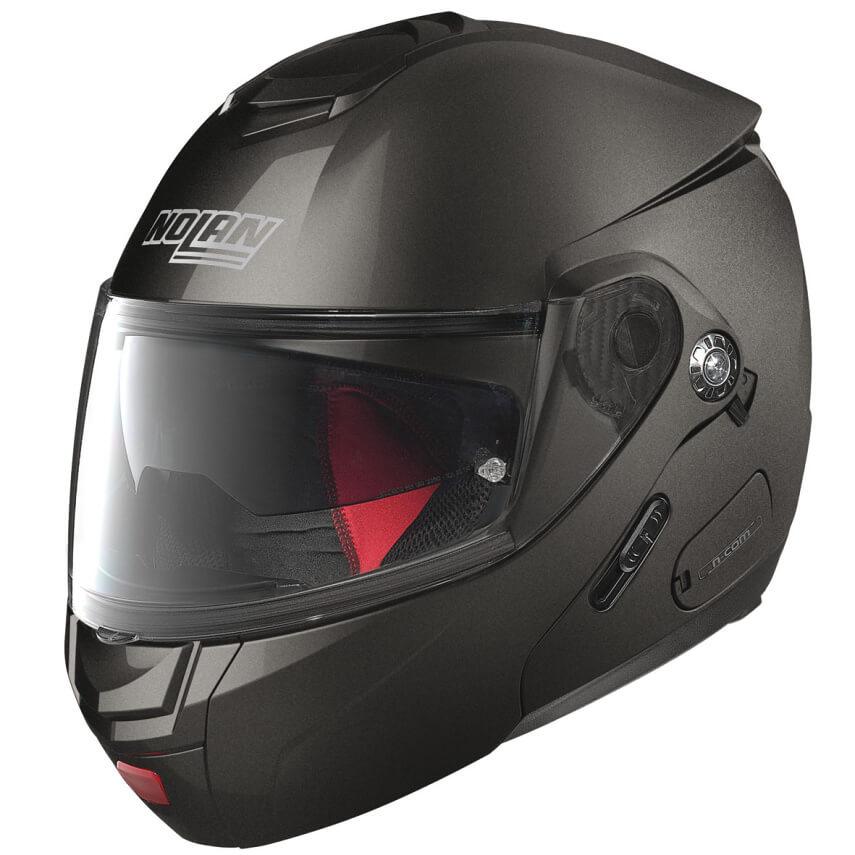 Moto helma Nolan N90-2 Classic N-Com Lava Grey