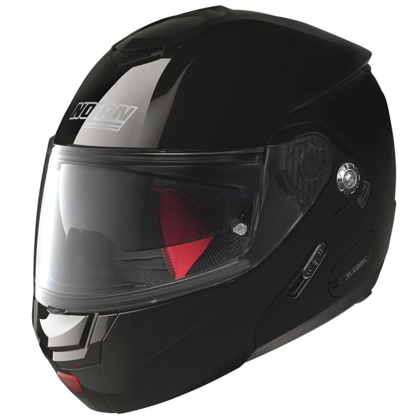 Moto helma Nolan N90-2 Classic N-Com Glossy Black L (59-60)