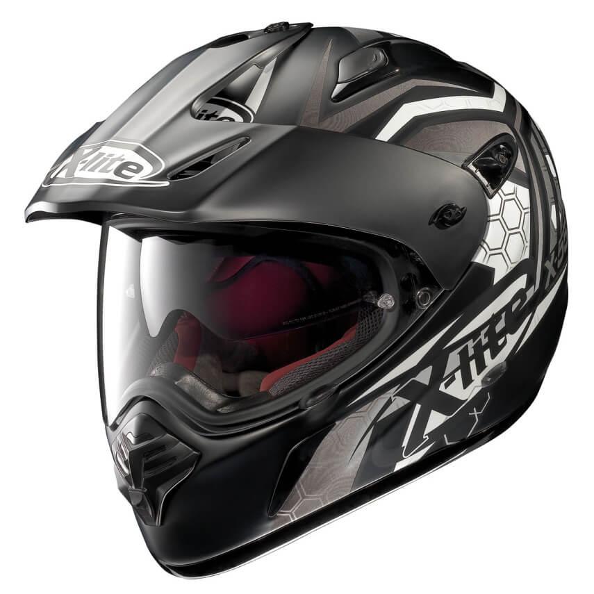 Moto helma X-Lite X-551 GT Kalahari N-Com Flat Black-White černo-bílá - M (57-58)