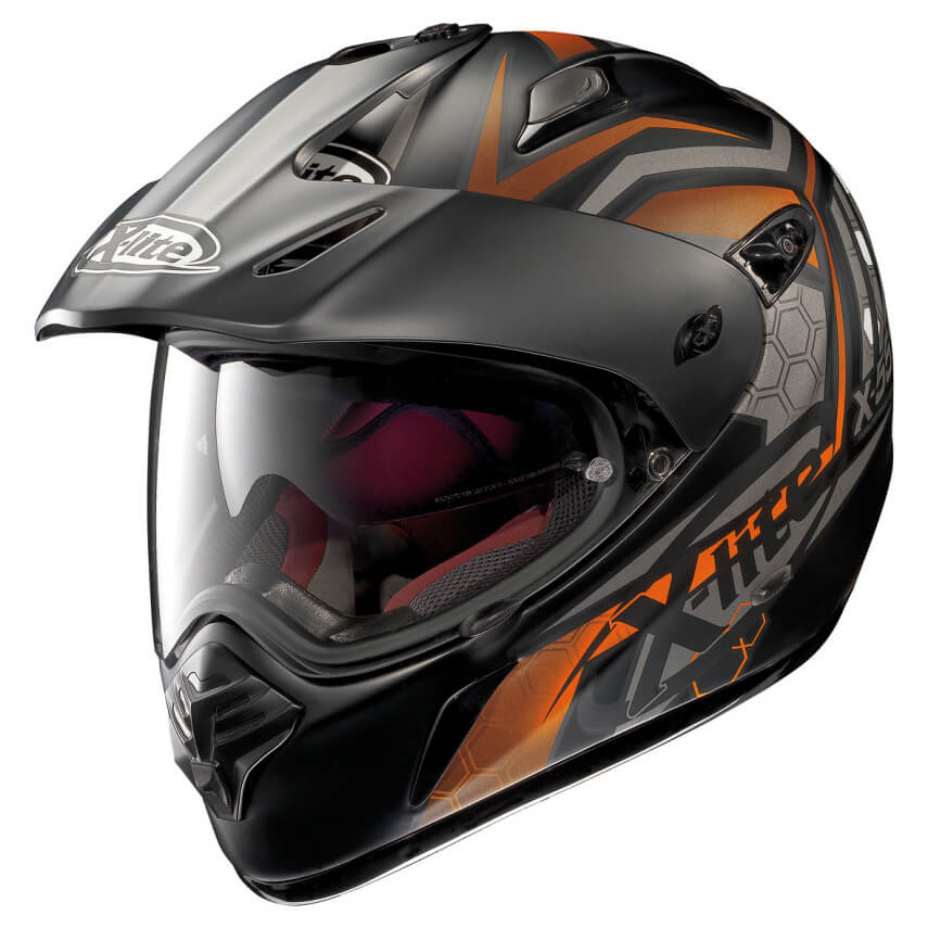Moto helma X-Lite X-551 GT Kalahari N-Com Flat Black-Orange