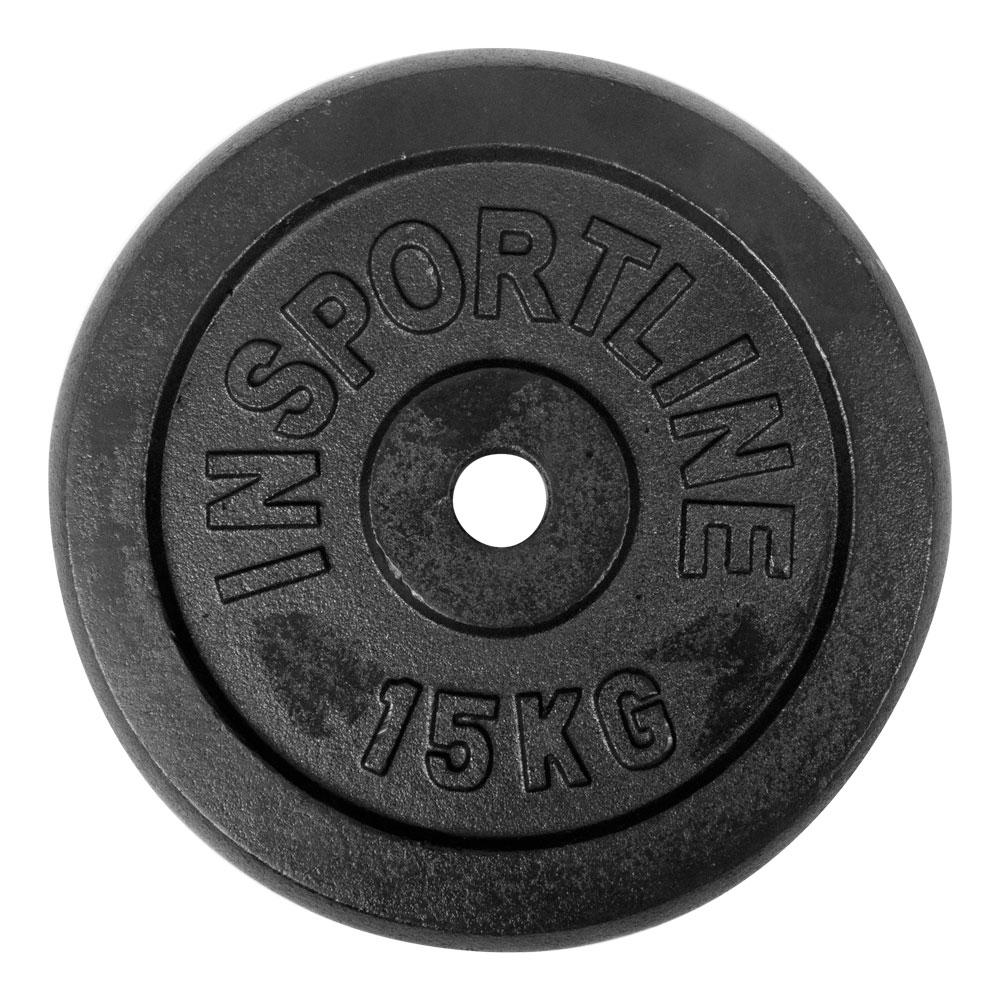 Ocelové závaží inSPORTline Blacksteel 15 kg