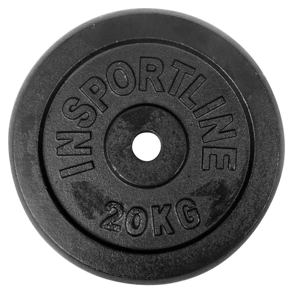 Ocelové závaží inSPORTline Blacksteel 20 kg