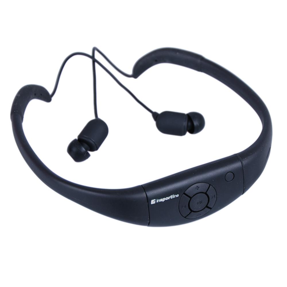 Vodotěsná sluchátka s MP3 přehrávačem inSPORTline Drumy černá