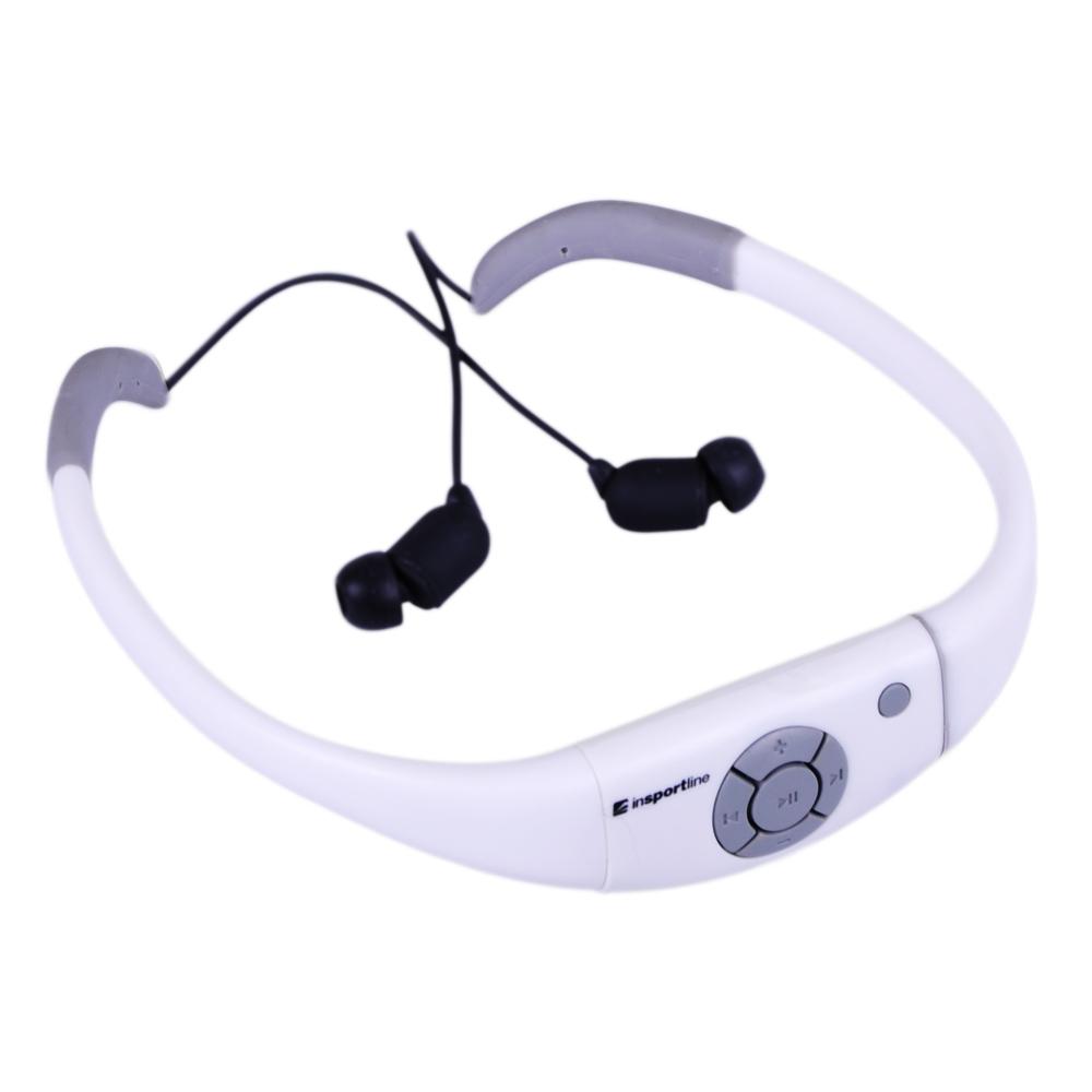 Vodotěsná sluchátka s MP3 přehrávačem inSPORTline Drumy bílá