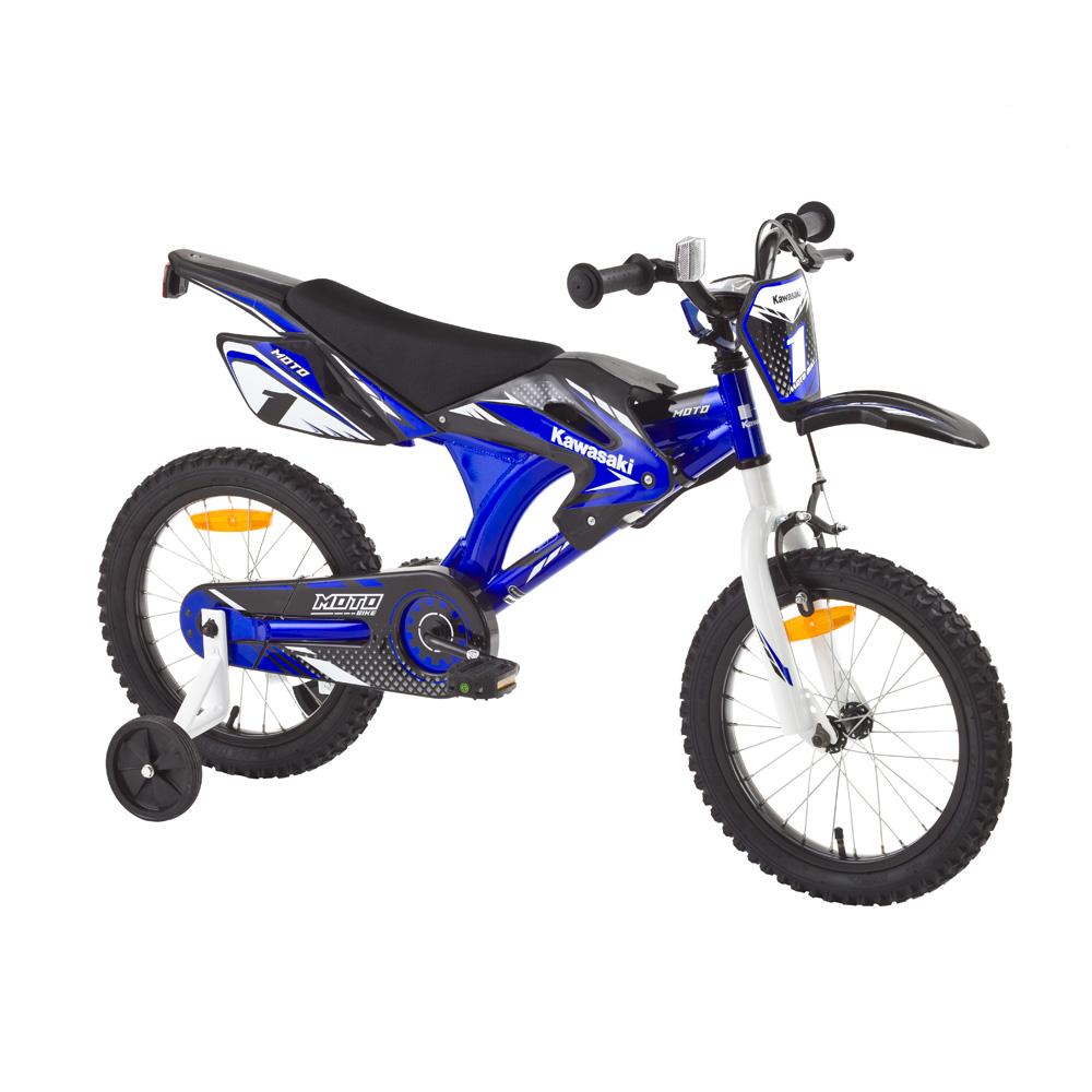 """Dětské kolo KAWASAKI Moto 16"""" - model 2014 modrá"""