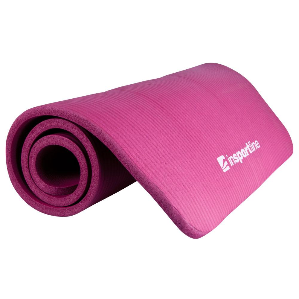 Podložka na cvičení inSPORTline Fity 140 x 61 cm fialová