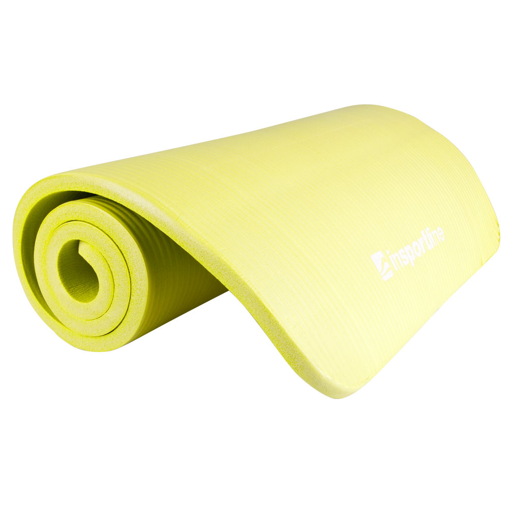 Podložka na cvičení inSPORTline Fity 140 x 61 cm zelenožlutá