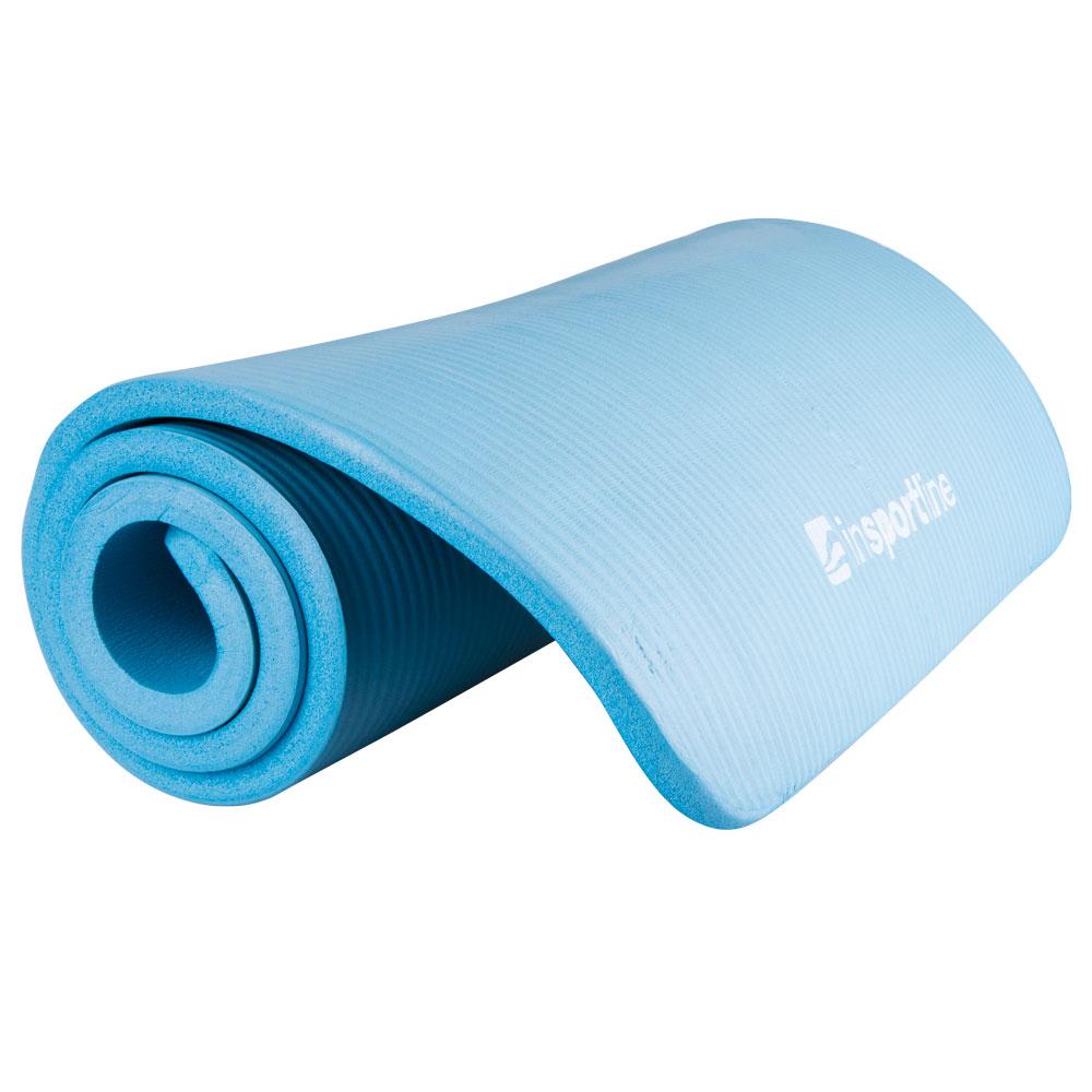 Podložka na cvičení inSPORTline Fity 140 x 61 cm modrá