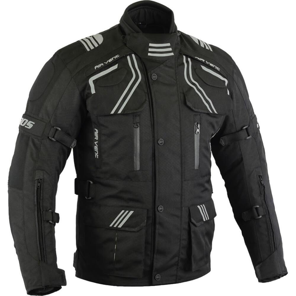 Pánská touringová moto bunda BOS Temper černá - 5XL
