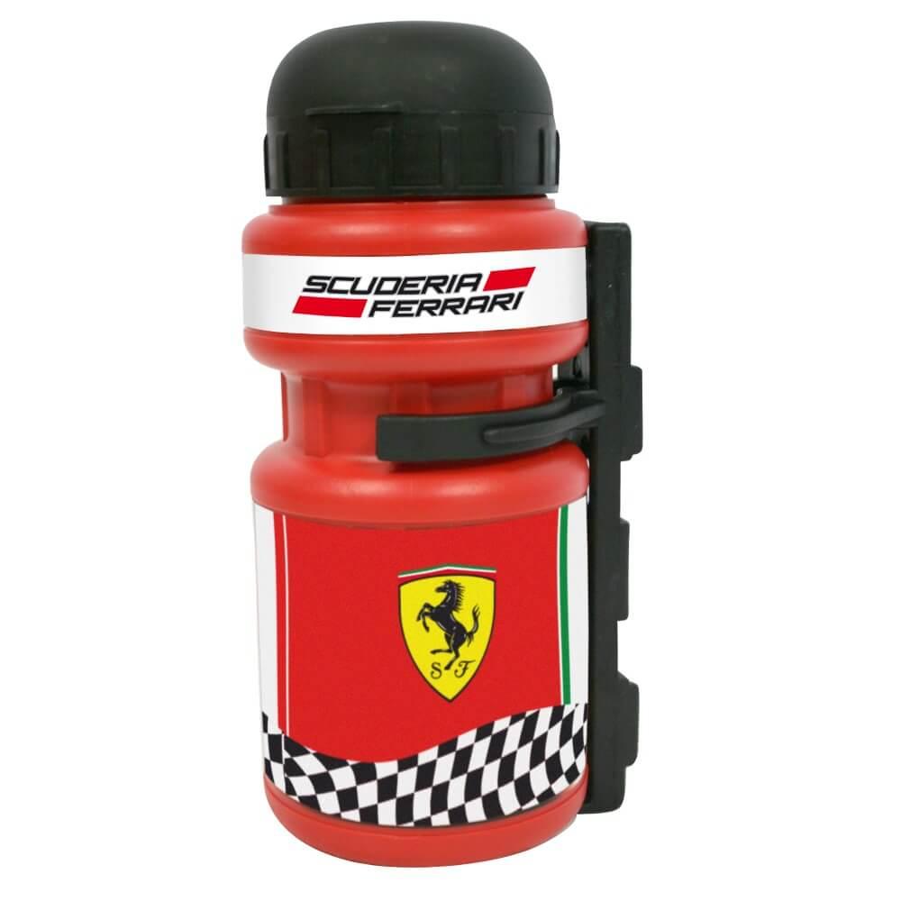 Plastová cyklo láhev s držákem Ferrari