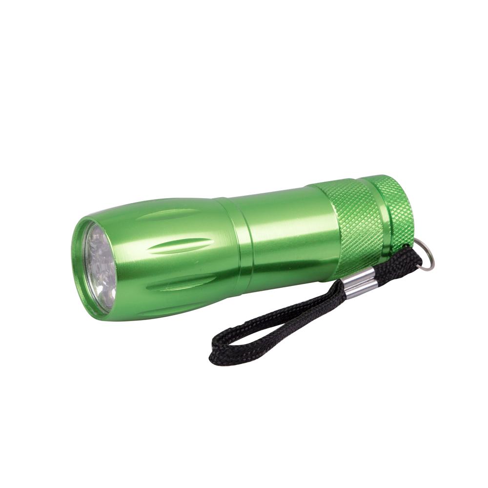 Hliníková příruční svítilna BC BCS 193 zelená