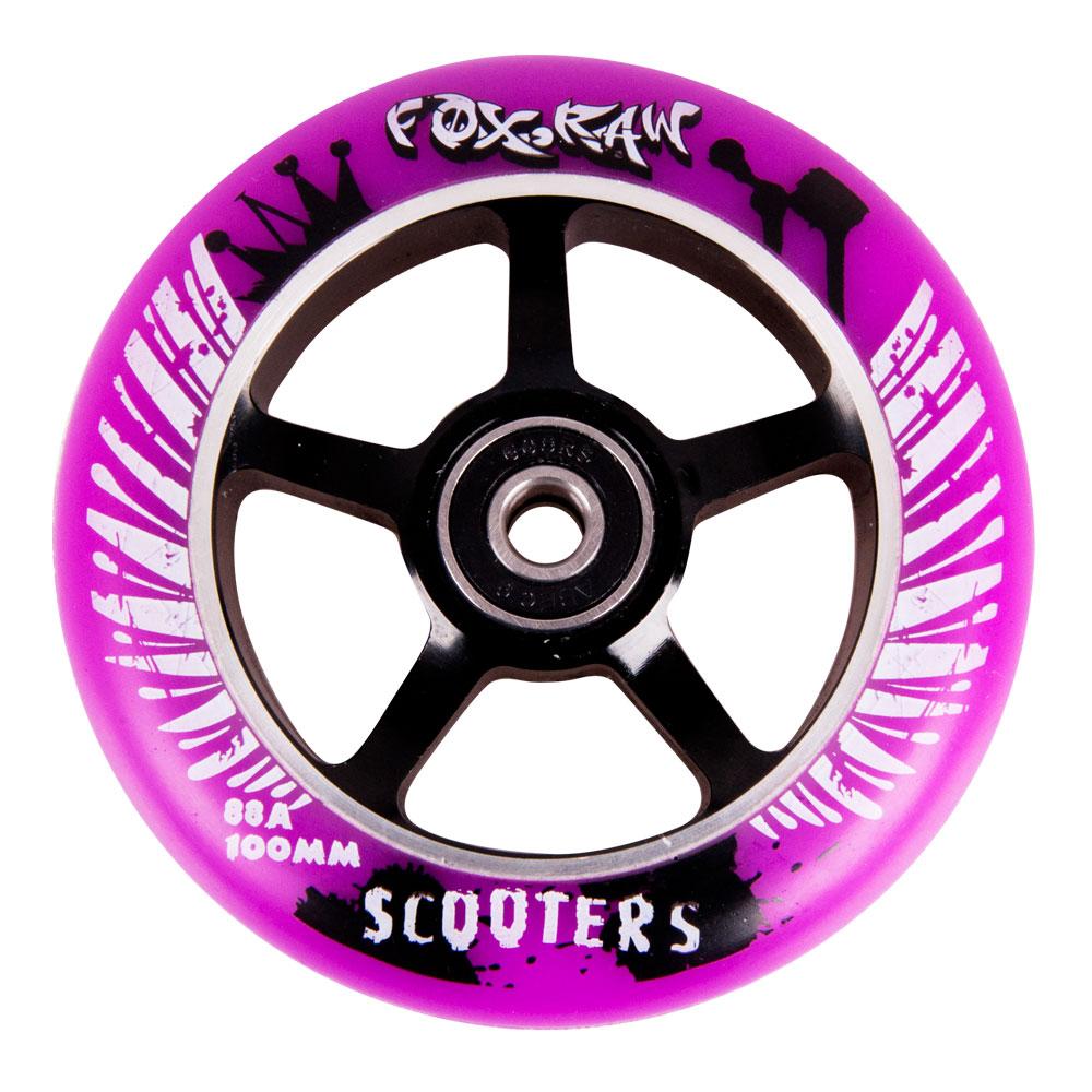 Náhradní kolečko pro koloběžku FOX PRO Raw 100 mm fialovo-černá