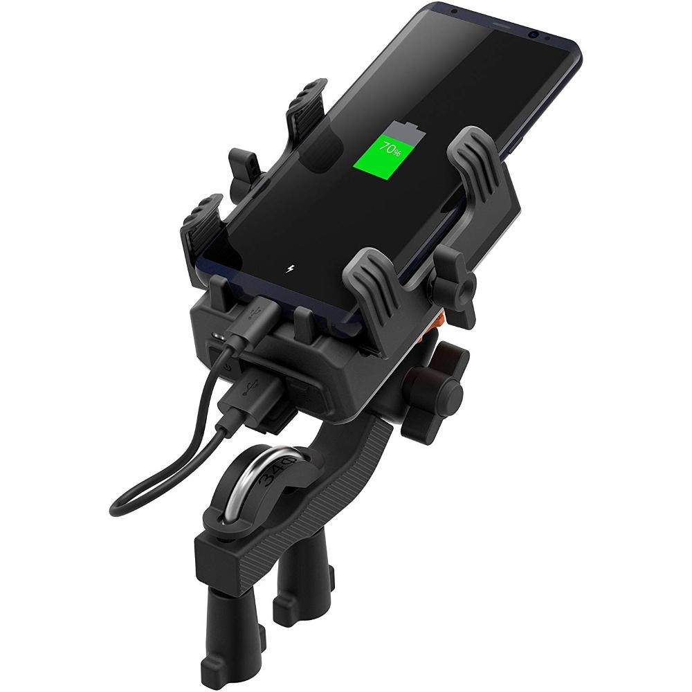 Držák mobilního telefonu na řídítka SENA PowerPro včetně powerbanky