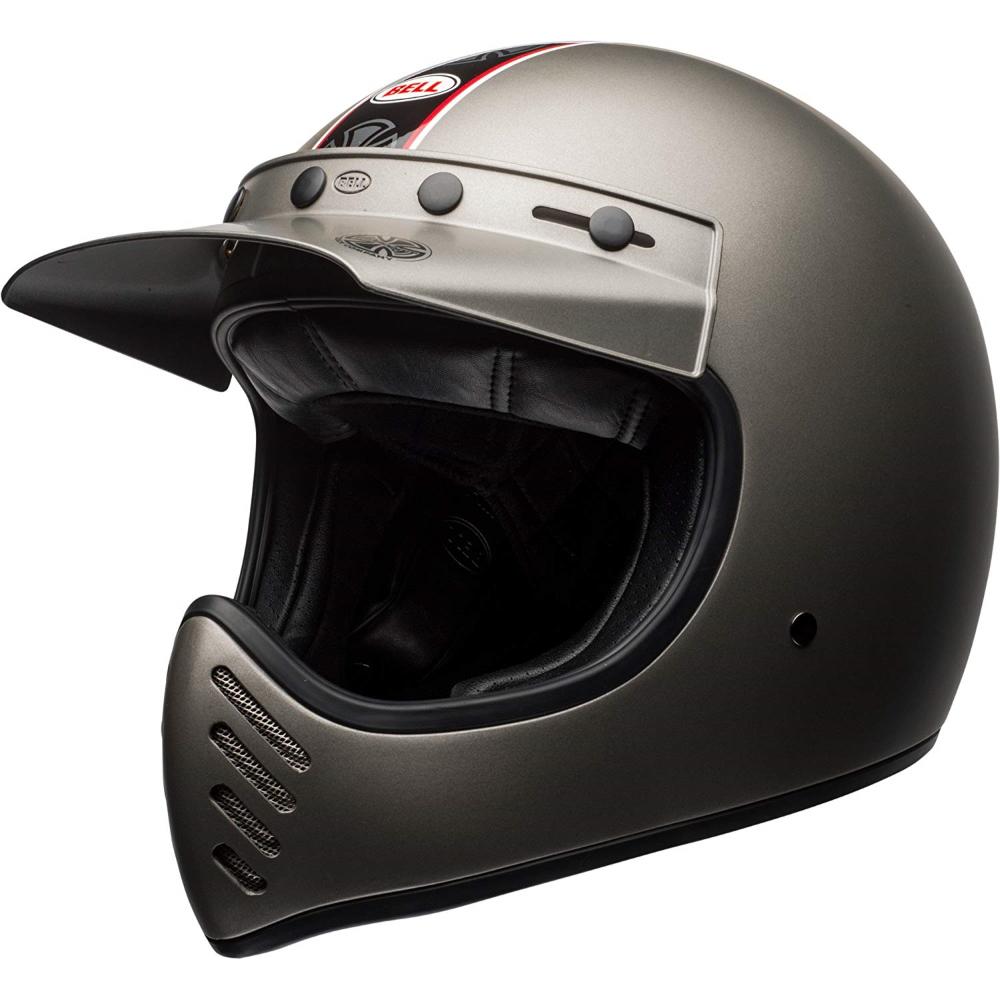 Moto helma BELL Moto-3 Independent Matte Titanium S (55-56) - Záruka 5 let