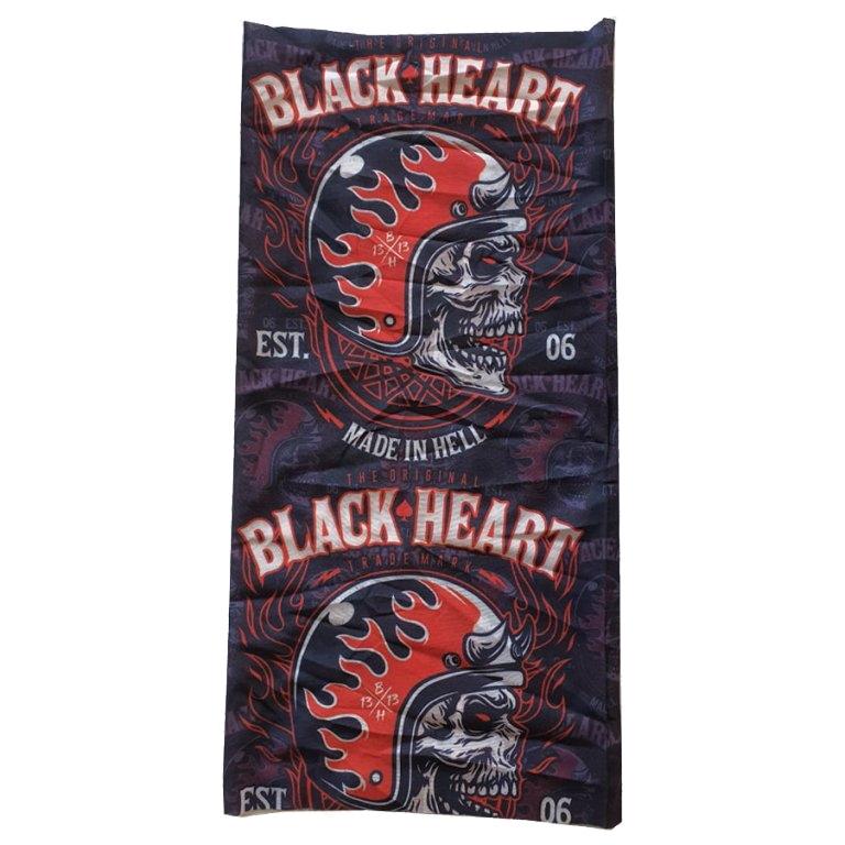 Nákrčník Black Heart Hatter  Černo-Červená