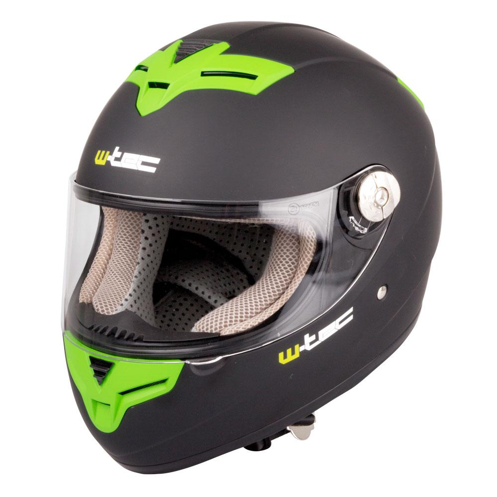 Levně Moto Helma W-Tec V105 Černo-Zelená Xs (53-54)