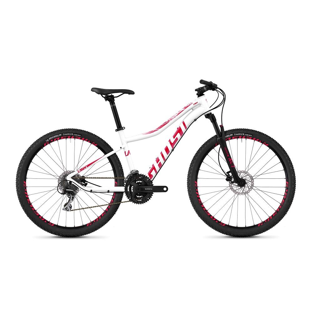 """Dámské horské kolo Ghost Lanao 2.7 AL W 27,5"""" - model 2019 Star White / Ruby Pink - XXS (12,5"""") - Záruka 10 let"""