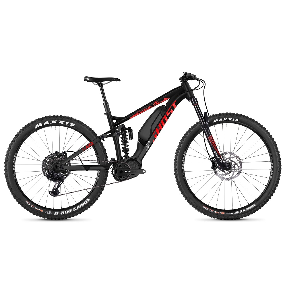 "Celoodpružené elektrokolo Ghost Hybride SL AMR S2.7+ AL 29"" - model 2019 Night Black / Riot Red / Iridium Silver - XL (19,5"") - Záruka 10 let"