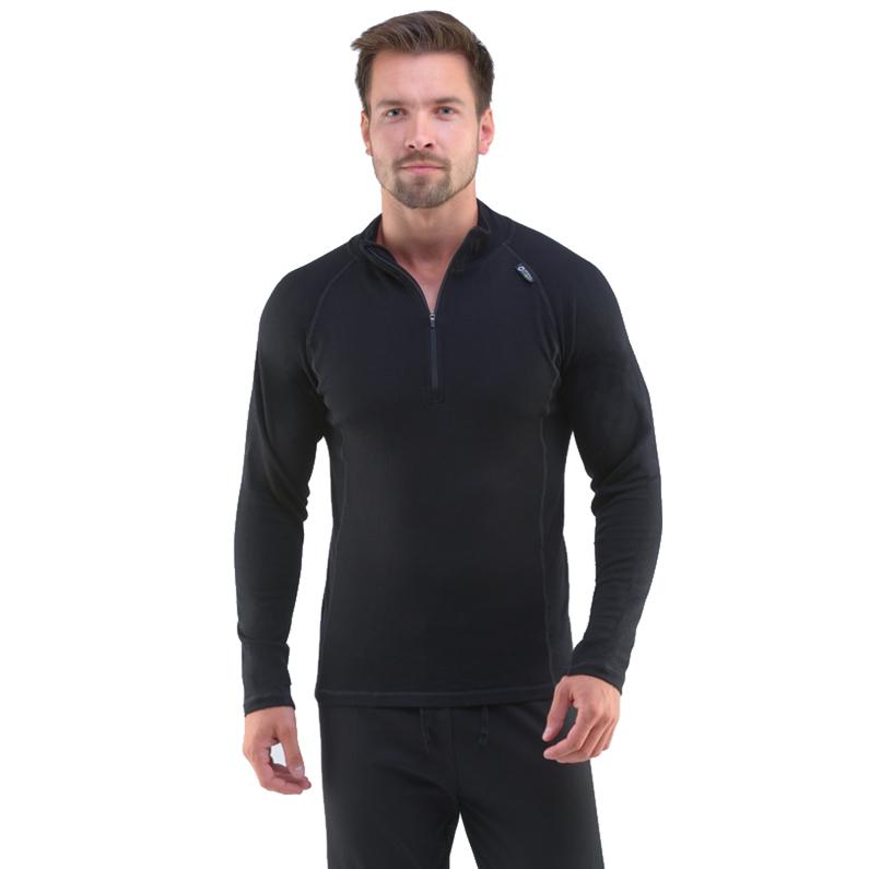 Pánské triko s dlouhým rukávem Merino Bamboo černá - L