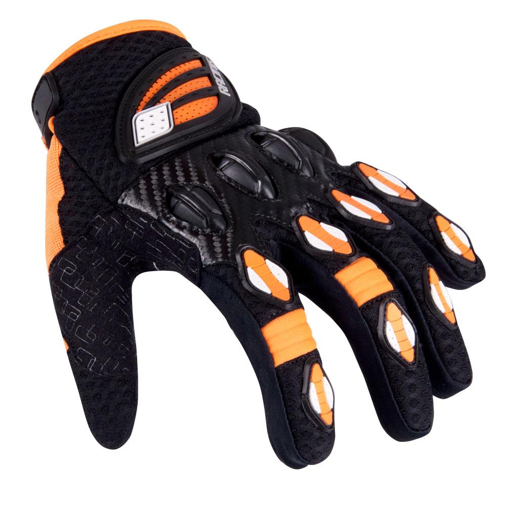 Motokrosové rukavice W-TEC Chreno černo-oranžová - XL