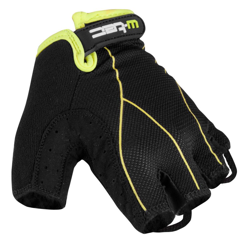 Pánské cyklo rukavice W-TEC Humyr černo-zelená - L