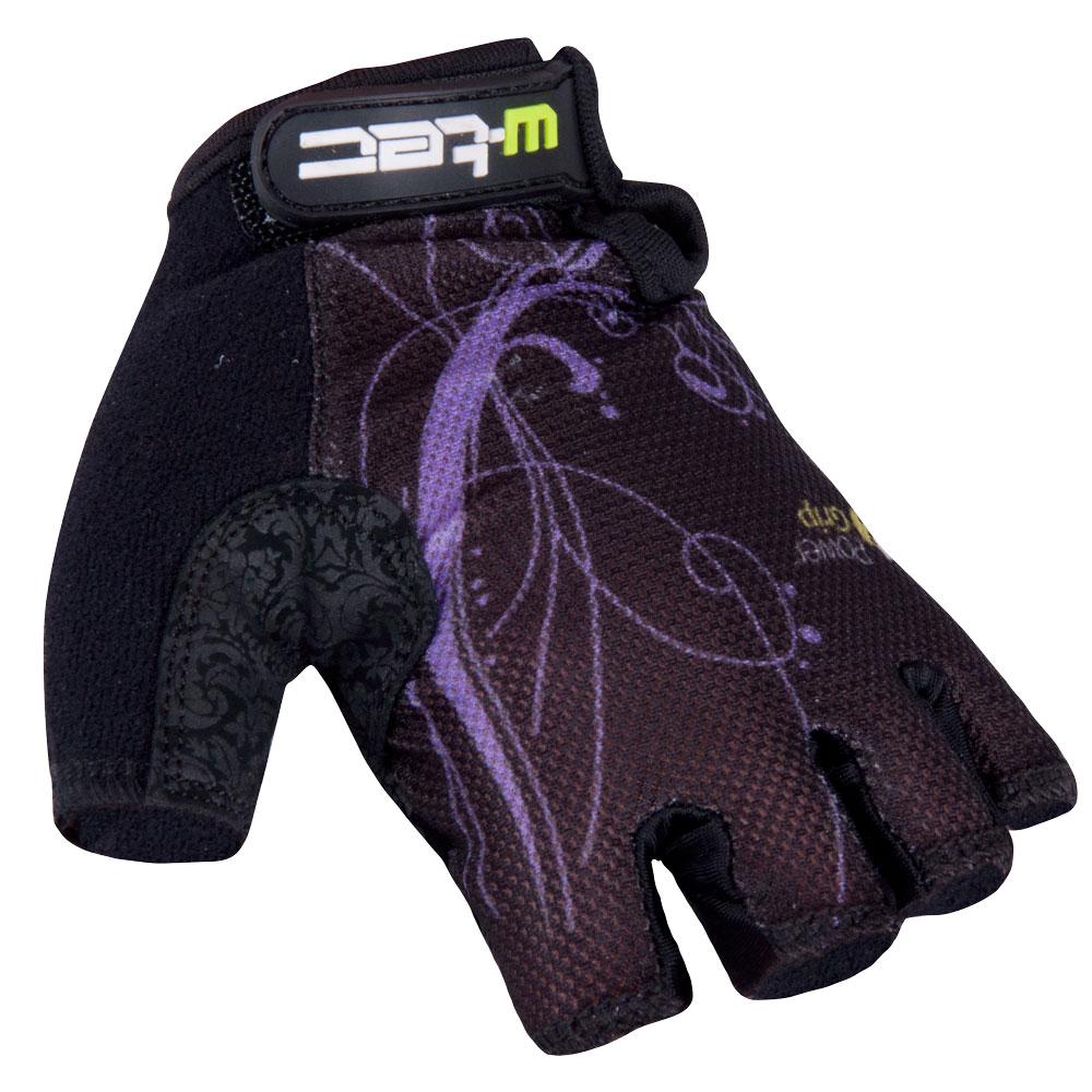 Dámské cyklo rukavice W-TEC Mison černo-fialová - XS