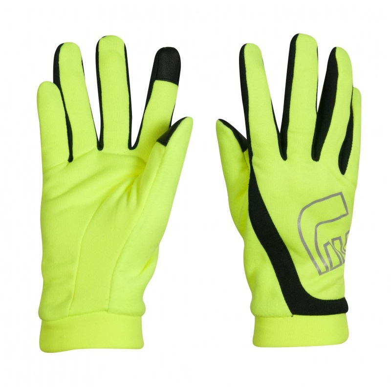 Běžecké rukavice Newline Thermal Gloves Visio neon - XS