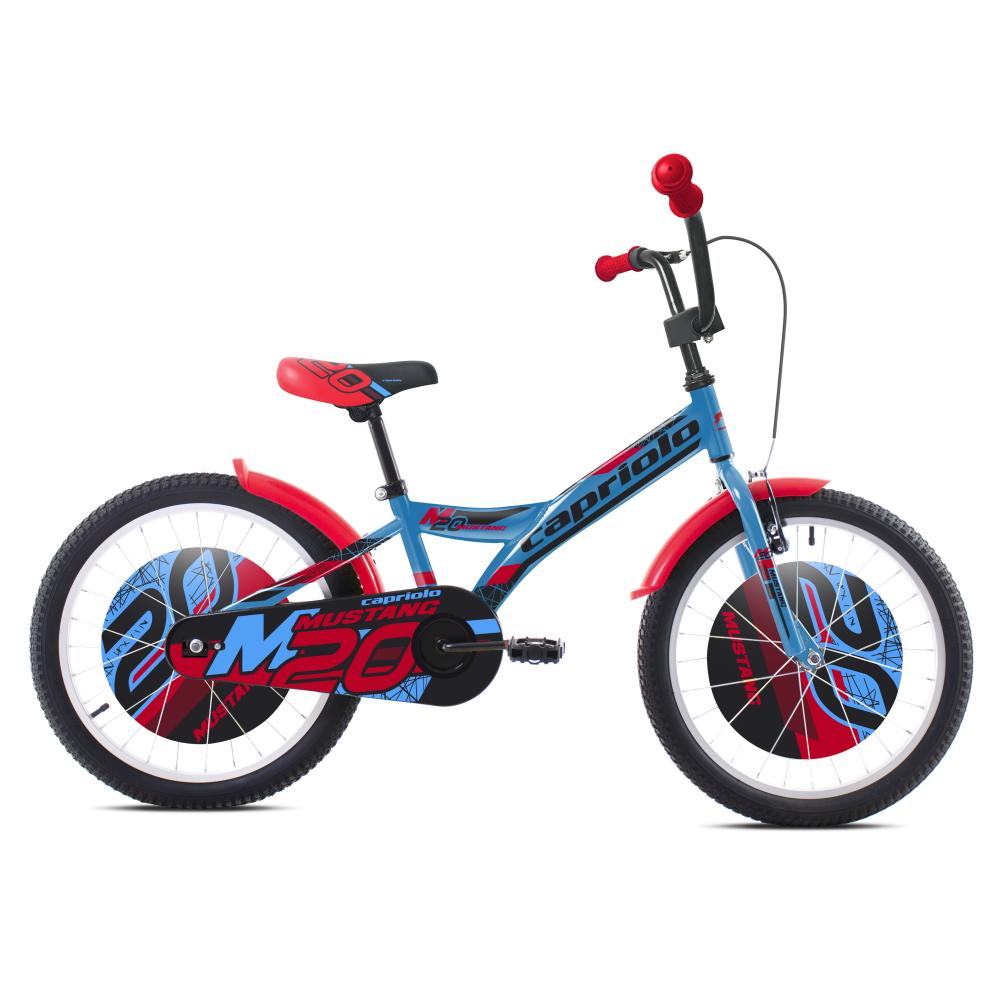 """Dětské kolo Capriolo Mustang 20"""" - model 2021 modro-černo-červená"""
