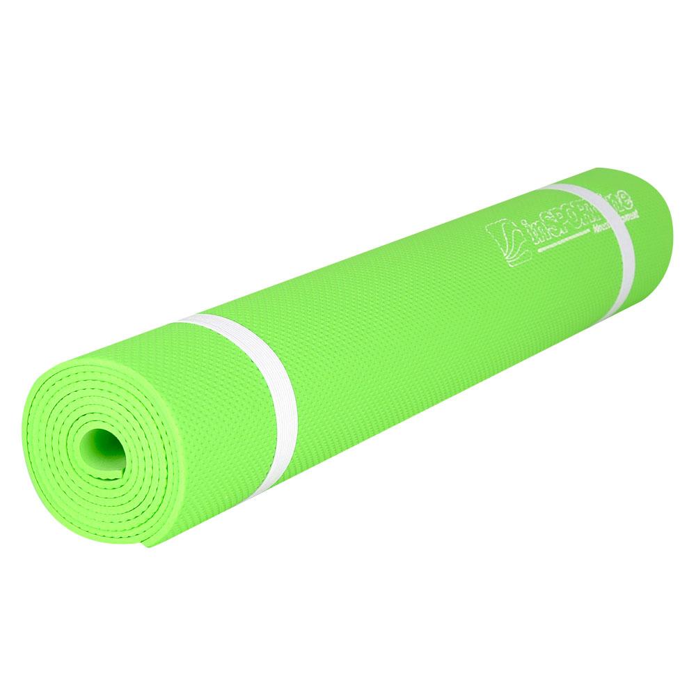 Gymnastická podložka inSPORTline EVA 173 x 60 cm reflexní zelená
