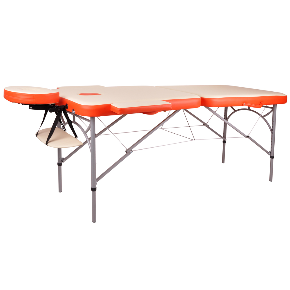 Masážní stůl inSPORTline Tamati 2-dílný hliníkový oranžová