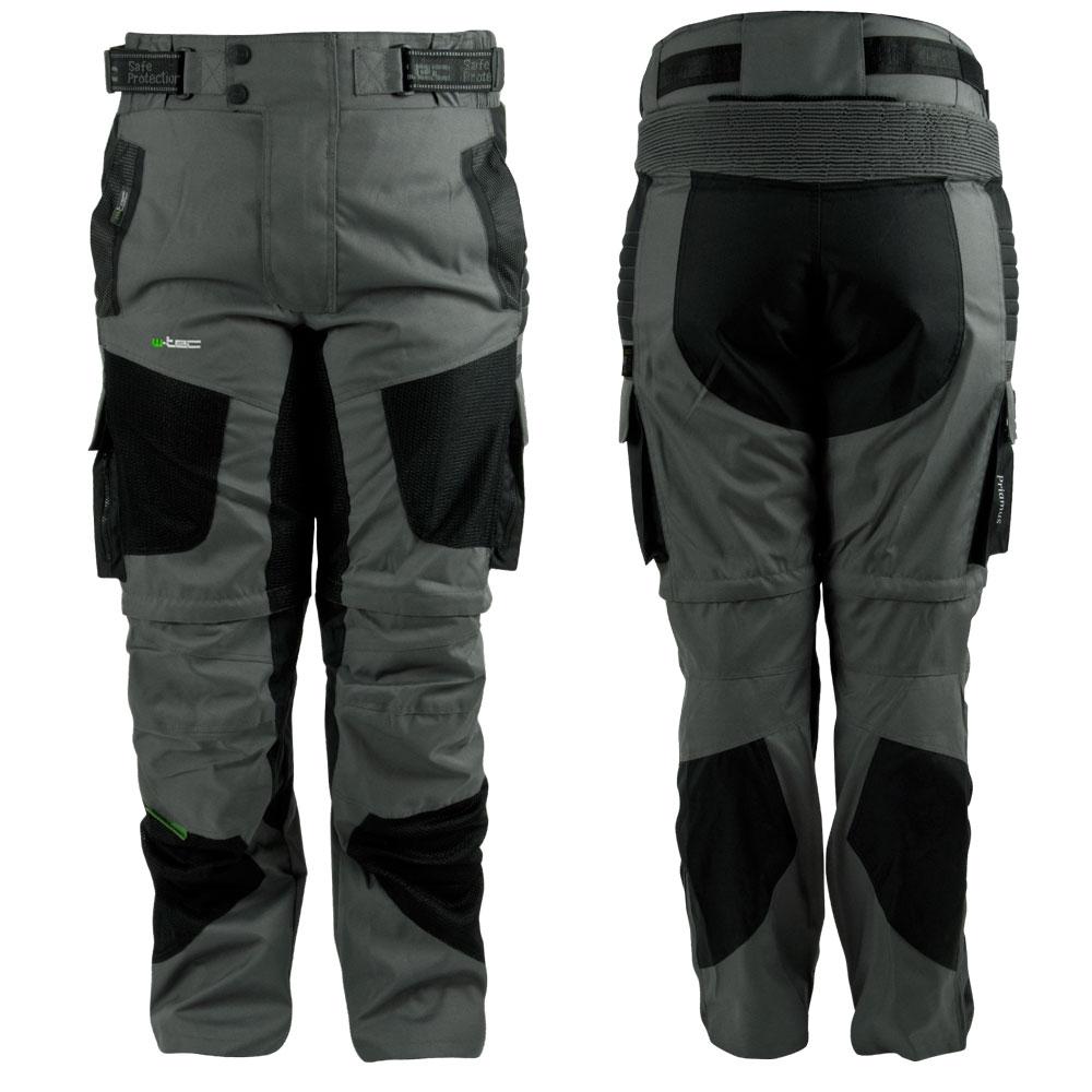 Moto kalhoty W-TEC Priamus šedo-černá - S