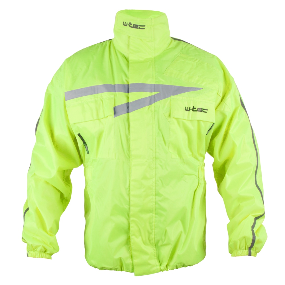 Moto pláštěnka W-TEC Rainy fluo žlutá - S