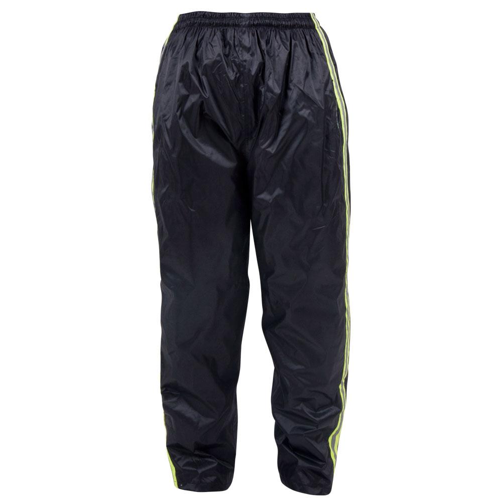 Pláštěnkové moto kalhoty W-TEC Rainy černo-žlutá - S